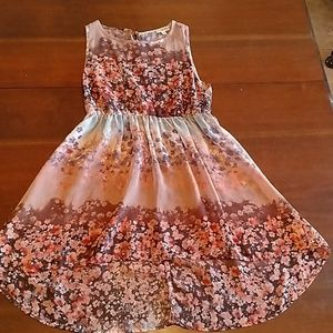 Cute Floral Sheer Top size Small